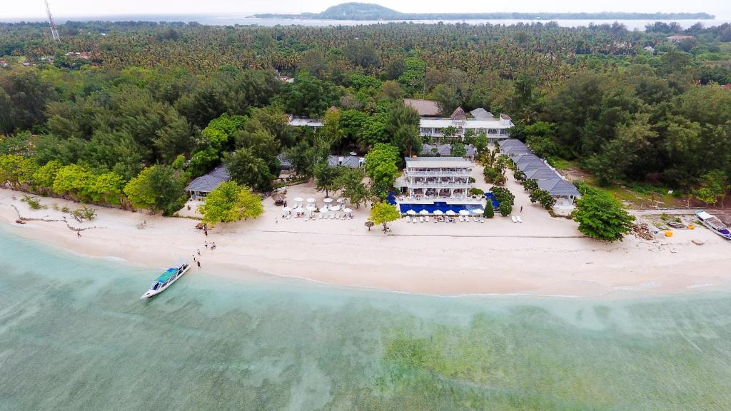 A bird's-eye view of Seri Resort Gili Meno