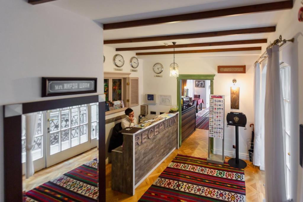 O saguão ou recepção de Deniz Inn Boutique Hotel