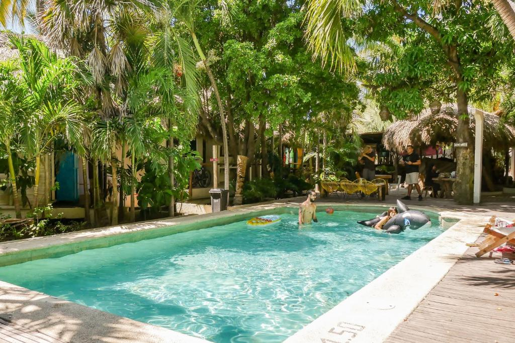 The swimming pool at or near Selina Puerto Escondido