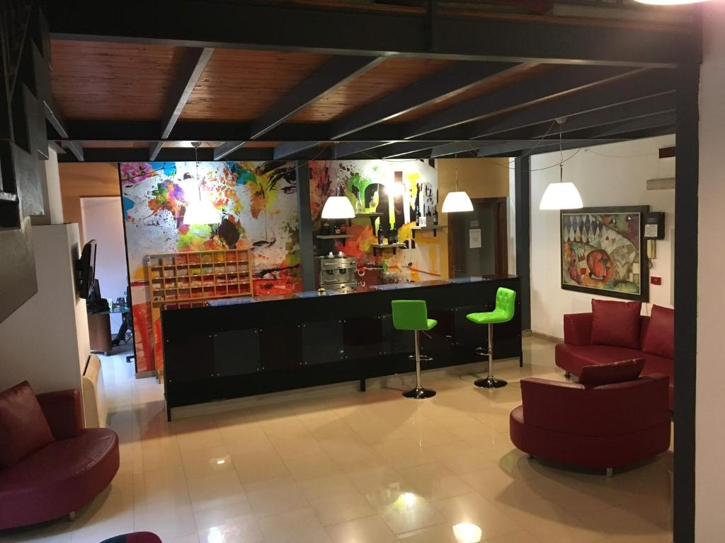 The lobby or reception area at Hotel Centrale