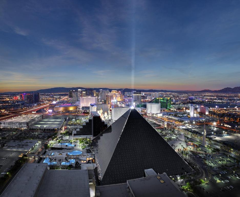 A general view of Las Vegas or a view of the city taken from the resort
