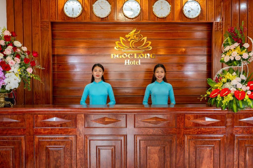 The lobby or reception area at Ngoc Long Sam Son Hotel