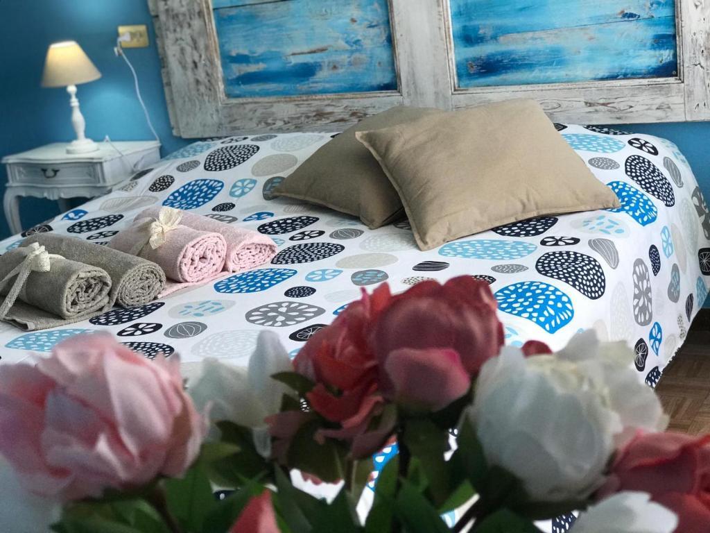 Postel nebo postele na pokoji v ubytování Locanda San Marco