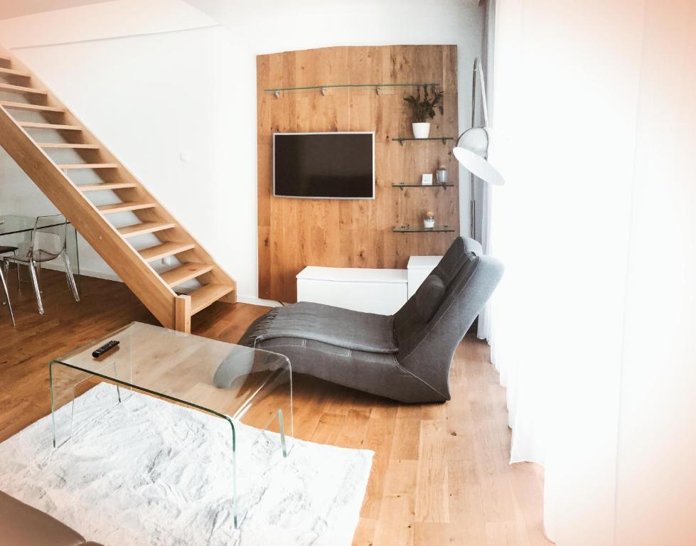 A seating area at Apartament Biznesowy Willa Park