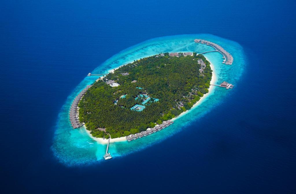 A bird's-eye view of Dusit Thani Maldives