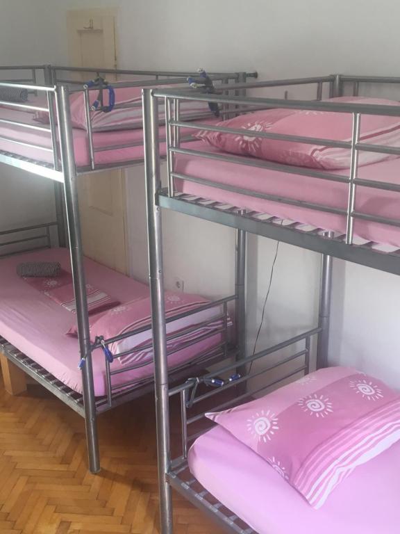 A bunk bed or bunk beds in a room at Hvar centre dorms