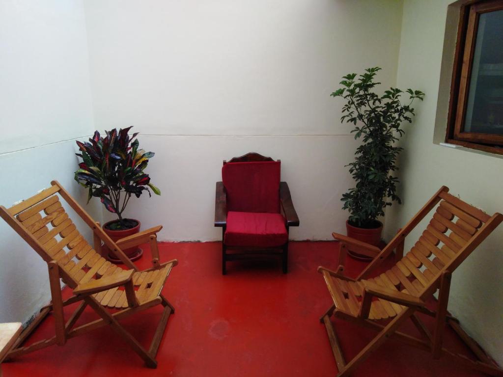 A seating area at Secret Garden