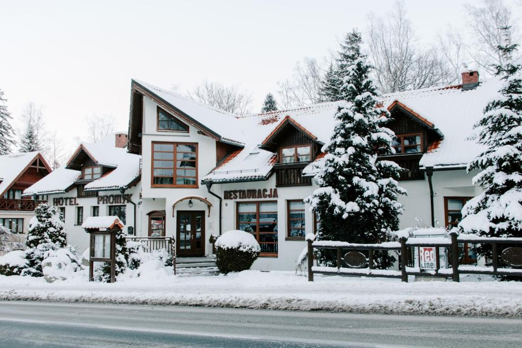 Hotel Promyk Wellness & Spa during the winter