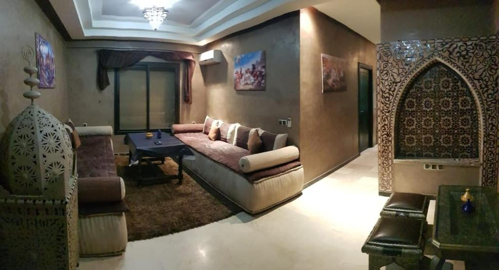 A seating area at Beautiful apartment in Gueliz, Marrakech