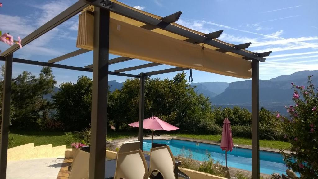 The swimming pool at or near Le Mas de Chartreuse