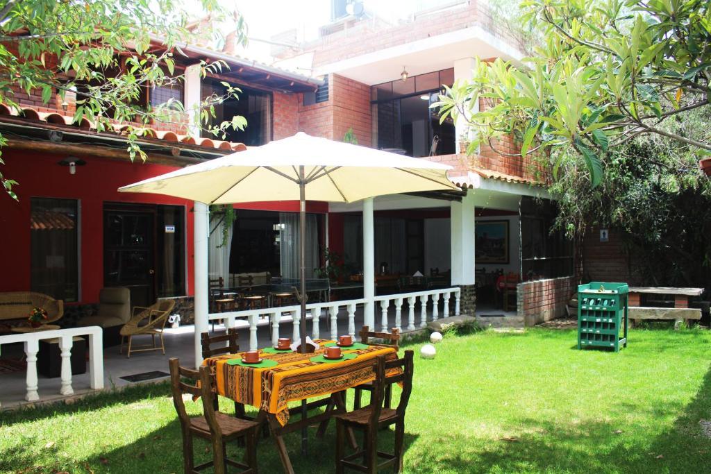 """A garden outside Casa Hospedaje""""Los Capulies"""""""