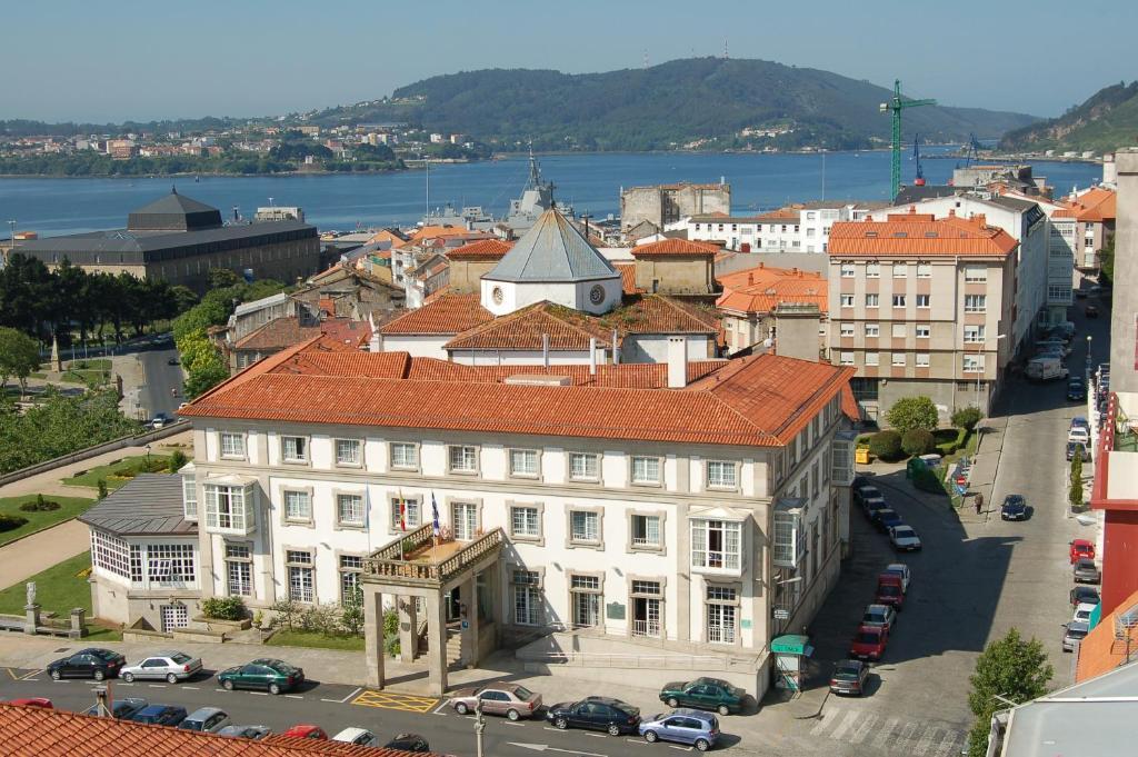 Parador de Ferrol a vista de pájaro