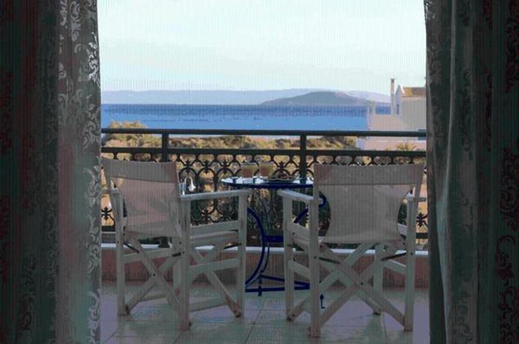 Μπαλκόνι ή βεράντα στο Aquamarine Hotel