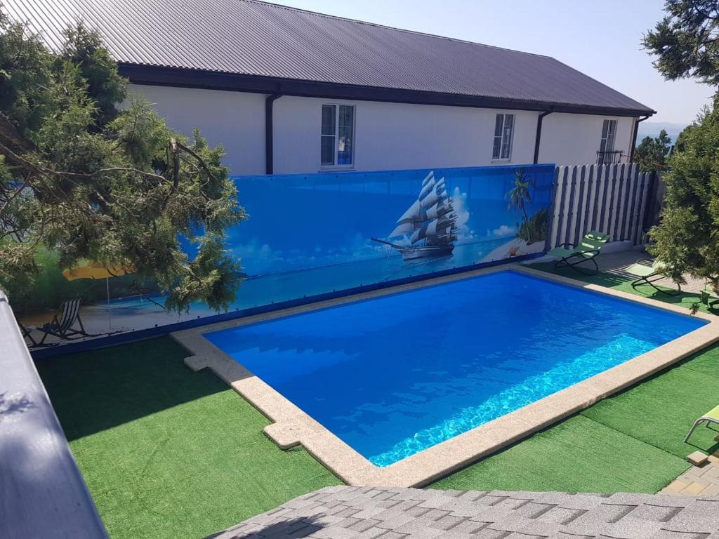 The swimming pool at or near Karavella