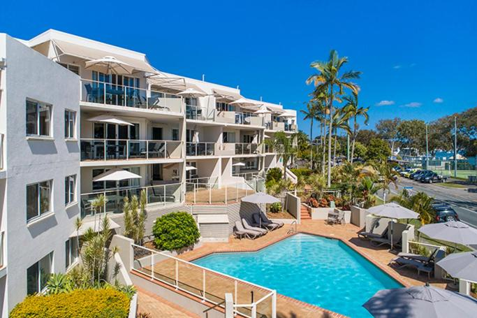 A view of the pool at Regatta Noosa or nearby