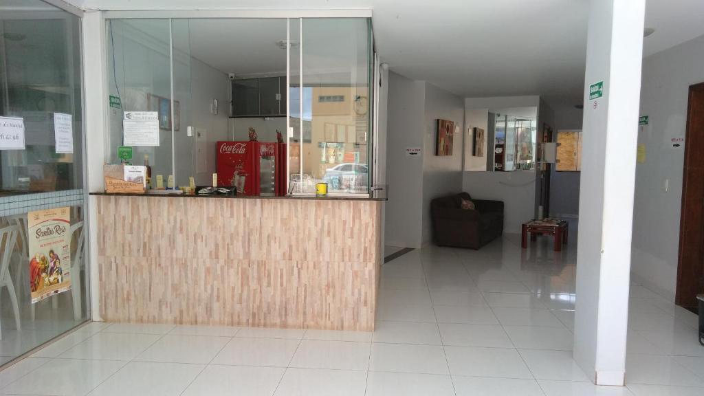 The lobby or reception area at Pousada Santana - Trindade Goiás