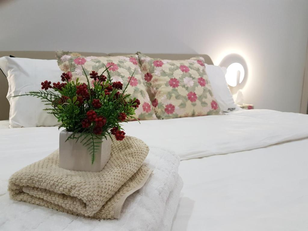 A bed or beds in a room at Rest House