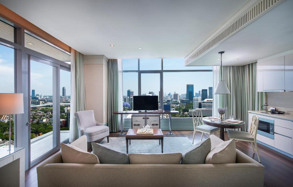 A seating area at Oriental Residence Bangkok - SHA Certified
