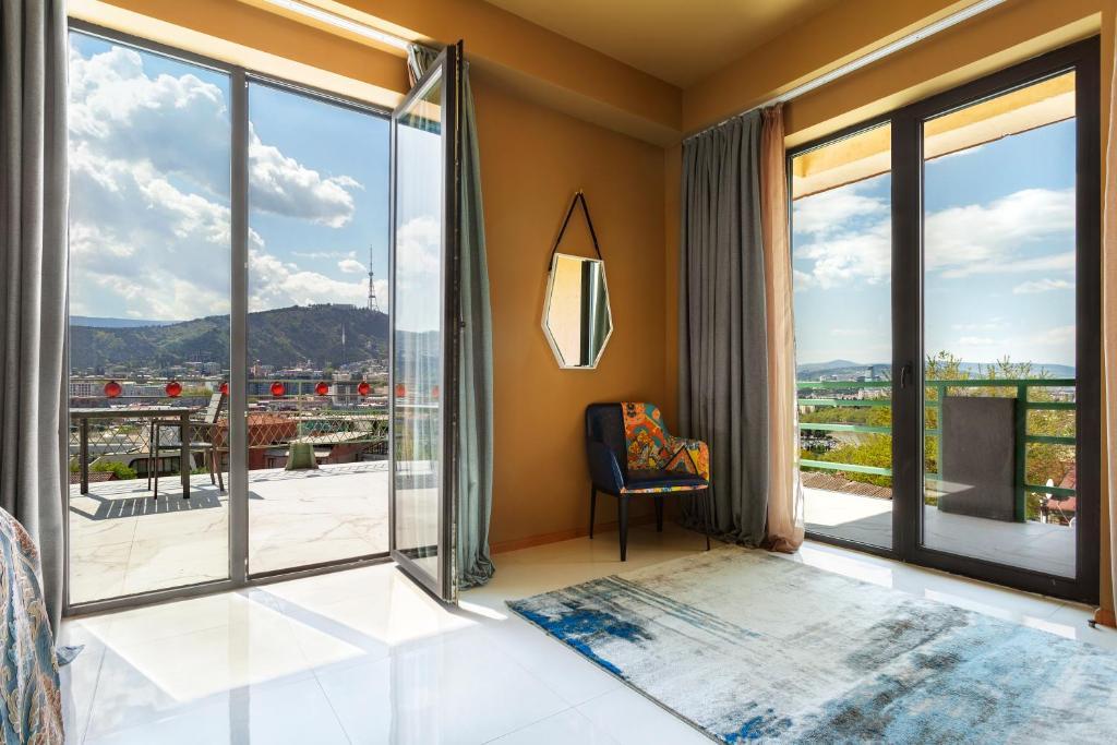 A balcony or terrace at Brim Hotel