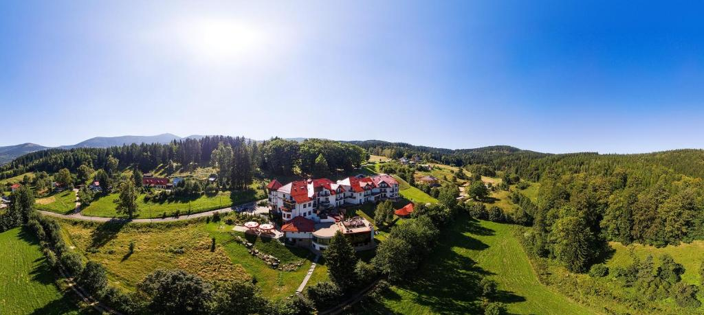 A bird's-eye view of Dziki Potok Konferencje Grill & Prestige SPA