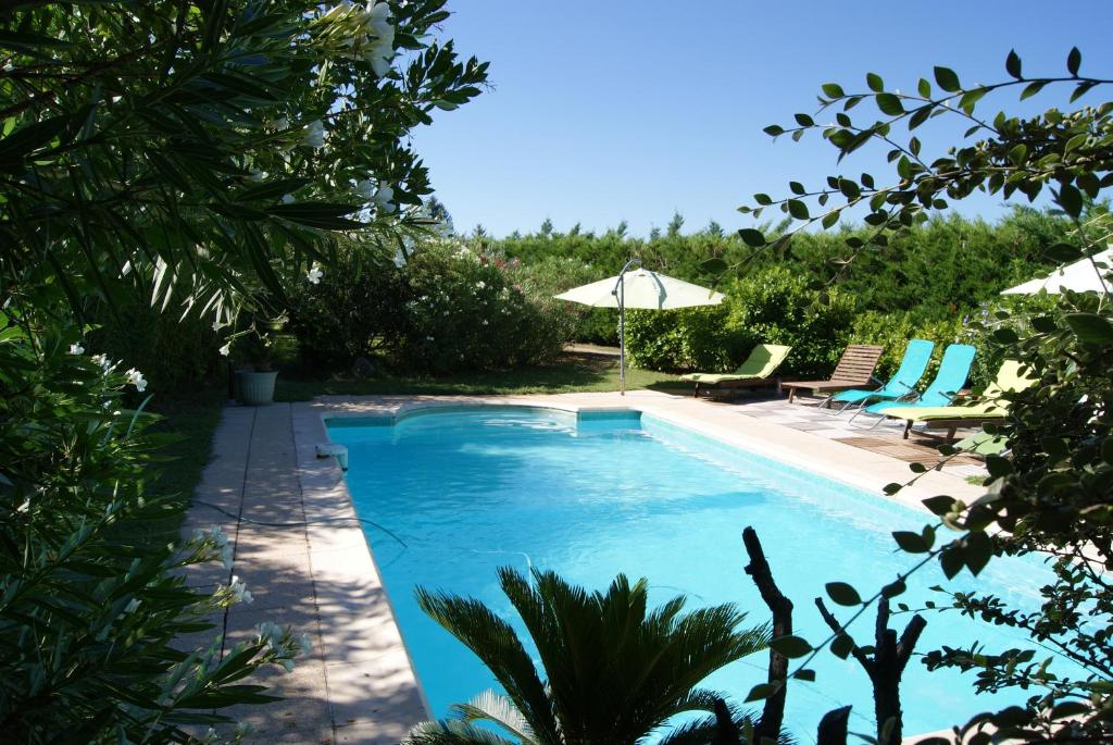 The swimming pool at or near Le Mas des Roses