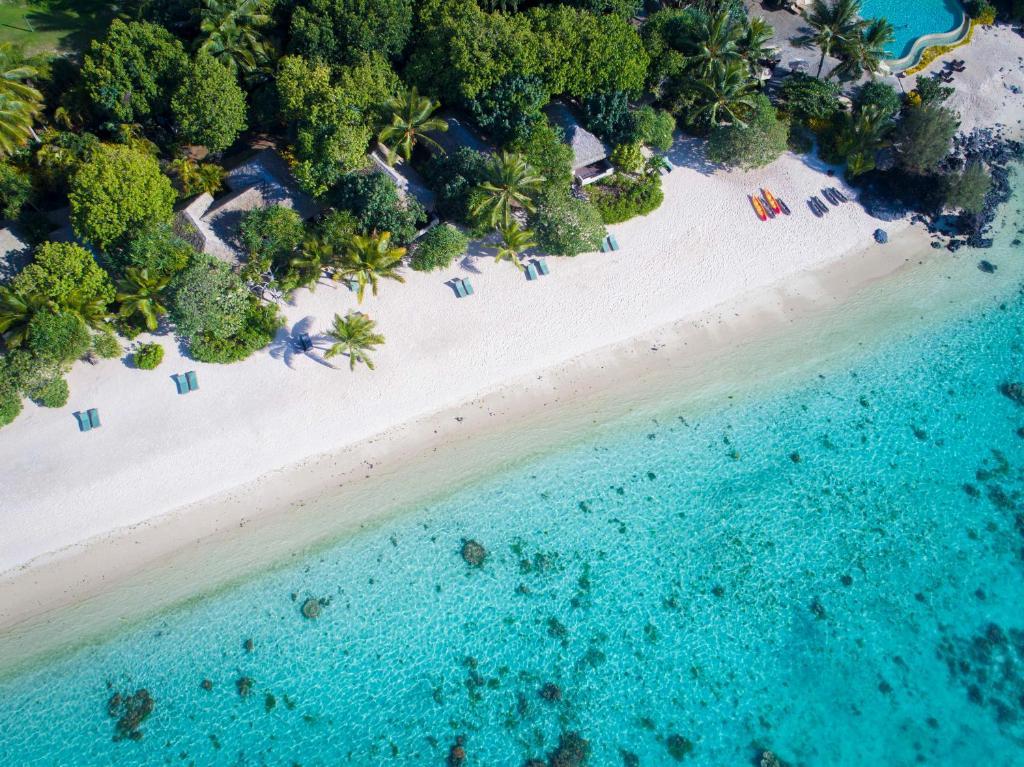 A bird's-eye view of Pacific Resort Aitutaki