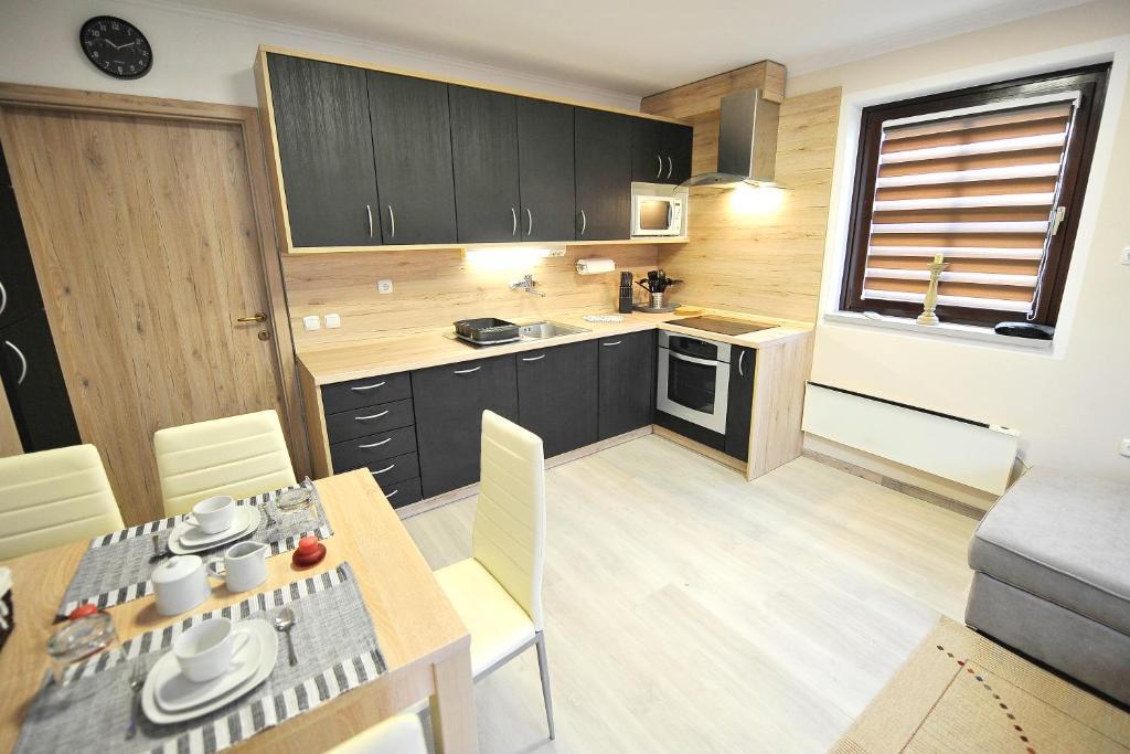 Kuhinja oz. manjša kuhinja v nastanitvi Aparthouse SUPREME with Terme Čatež Tickets