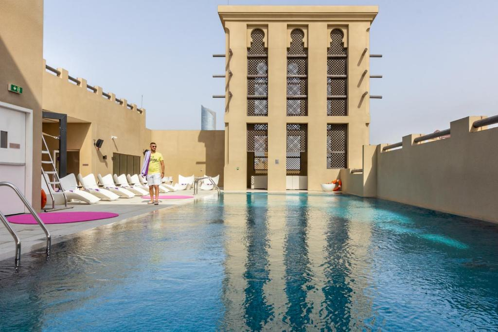 The swimming pool at or close to Premier Inn Dubai Al Jaddaf