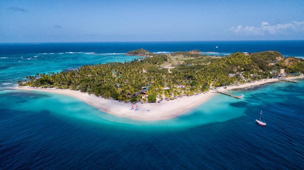A bird's-eye view of The Palm Island Resort
