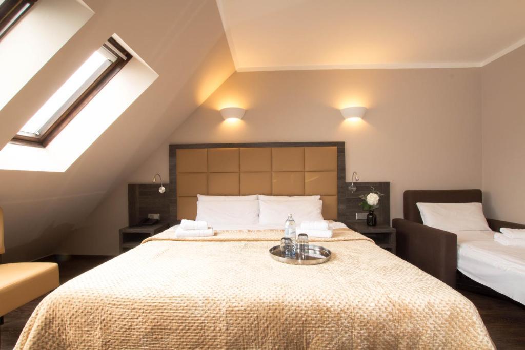 Ein Bett oder Betten in einem Zimmer der Unterkunft Hotel Delta am Potsdamer Platz