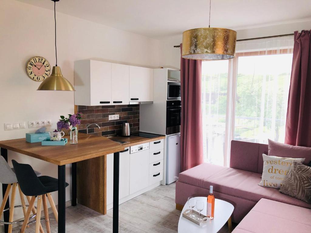 Kuchyňa alebo kuchynka v ubytovaní Apartmany Central Liptov