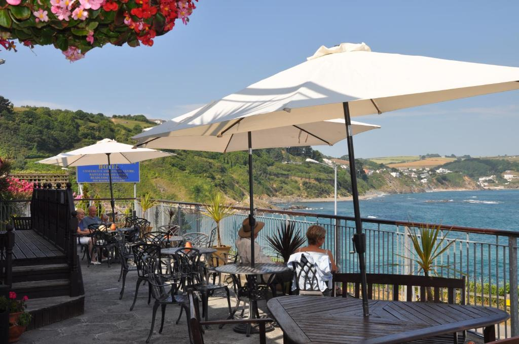 A restaurant or other place to eat at The Hannafore Point Hotel