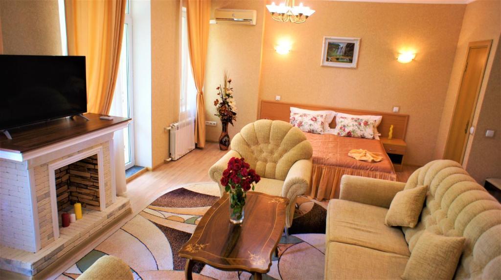 Гостиная зона в Отель ПОЛИНА