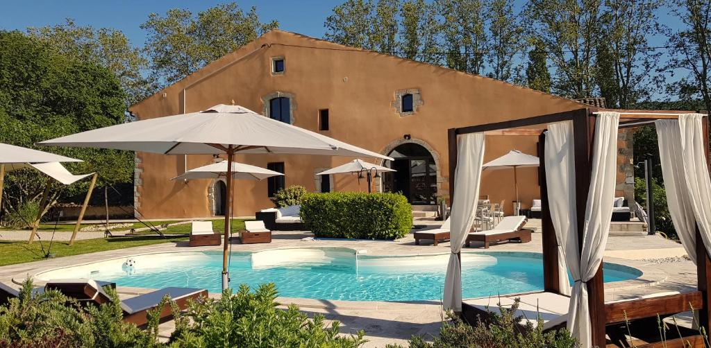 The swimming pool at or near Domaine De Pradaous