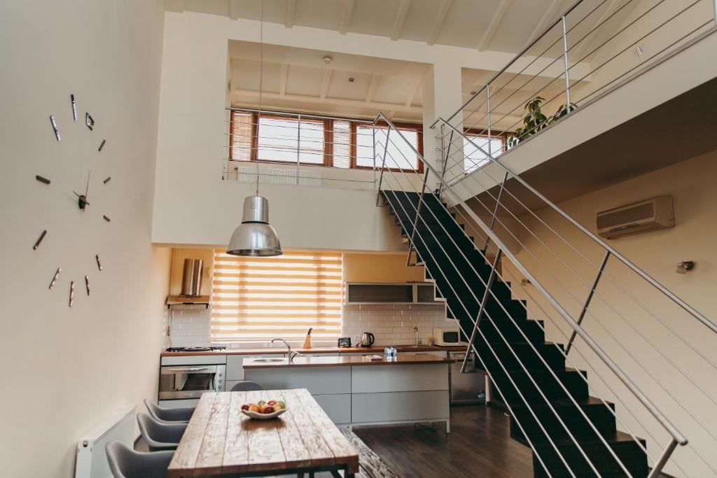 A cozinha ou cozinha compacta de Modern Apartments with city view