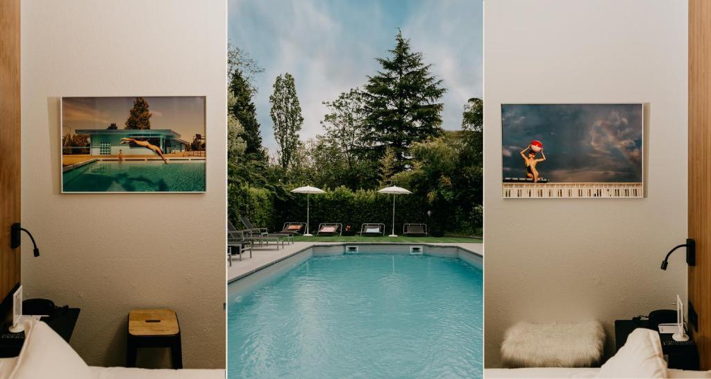 Der Swimmingpool an oder in der Nähe von Best Western Bridge Hotel Lyon East