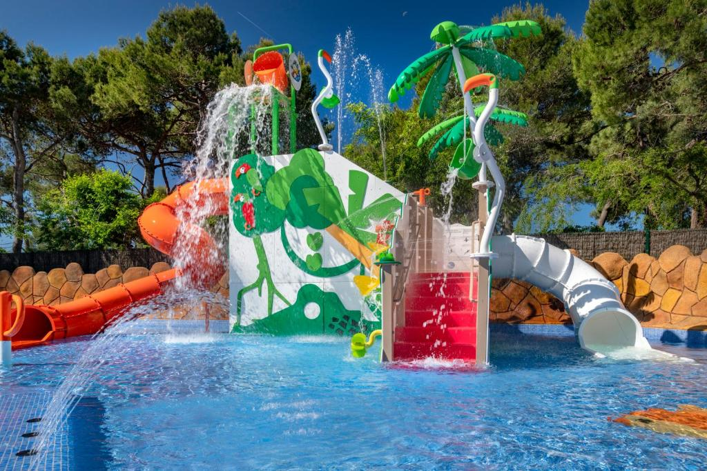 Aqua park at the campsite or nearby