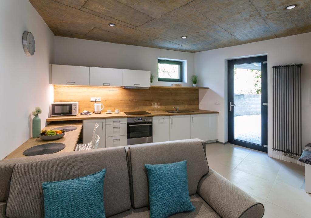 Kuchyň nebo kuchyňský kout v ubytování Nerudovka apartment