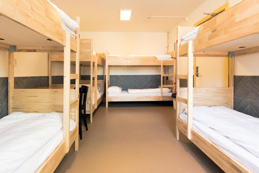 A bunk bed or bunk beds in a room at Hostel The Globe