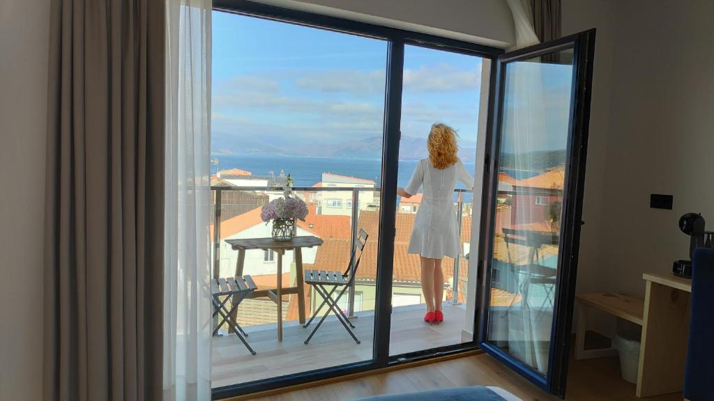 Un balcón o terraza de Hotel Costa da Morte
