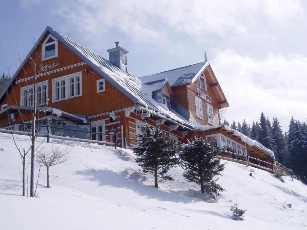 Chata Šohajka during the winter