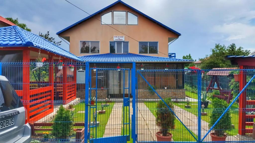 Children's play area at Casa Buşcu
