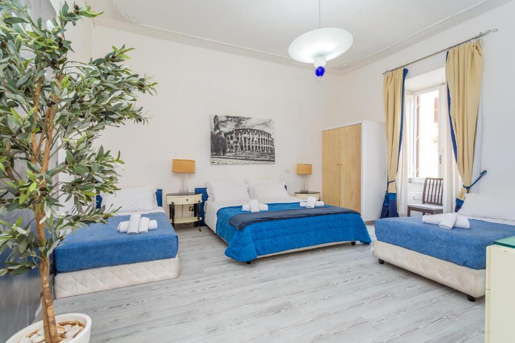 Un ou plusieurs lits dans un hébergement de l'établissement White Vatican
