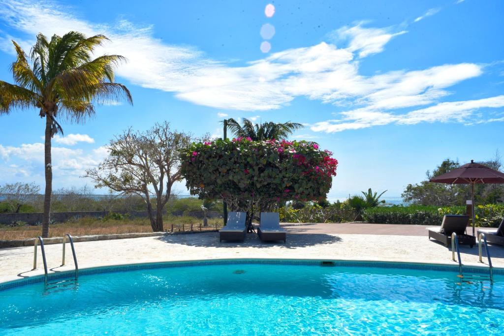 The swimming pool at or near El Morro Eco Adventure Hotel