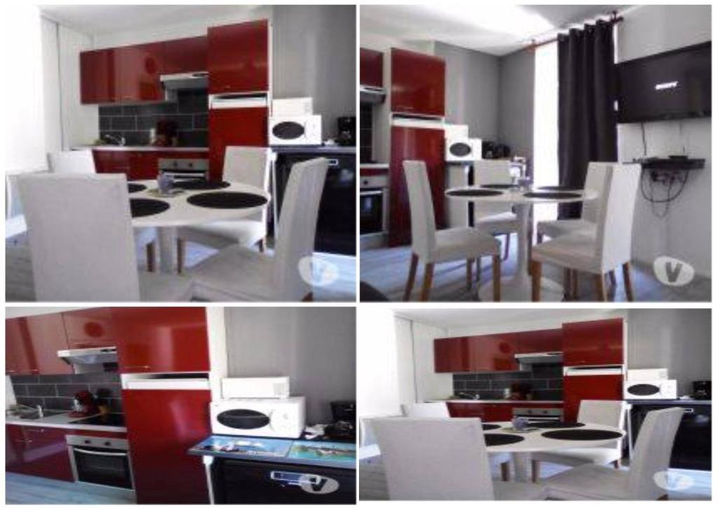Restaurant ou autre lieu de restauration dans l'établissement Appartement Résidence les Acacias