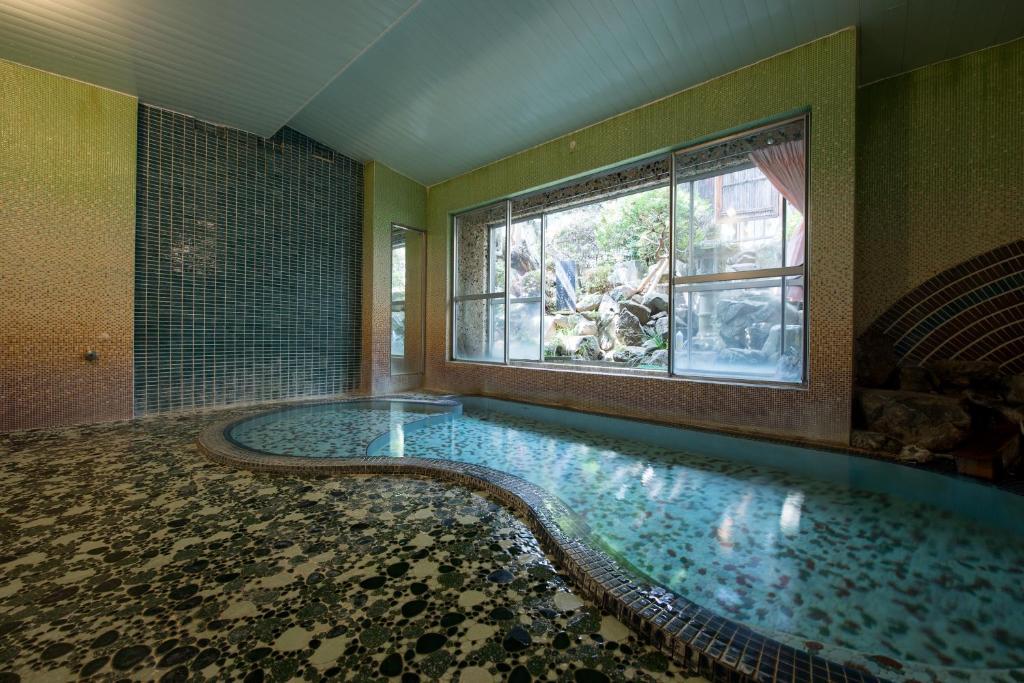 The swimming pool at or near Marunaka Ryokan