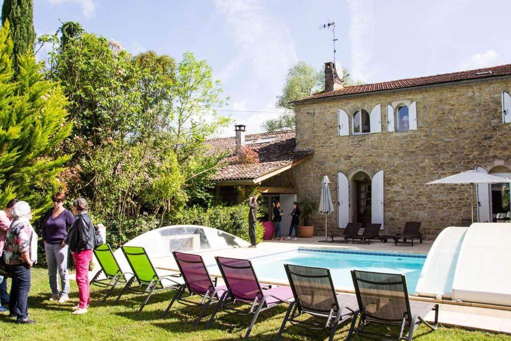 The swimming pool at or near Le Clos d'Any
