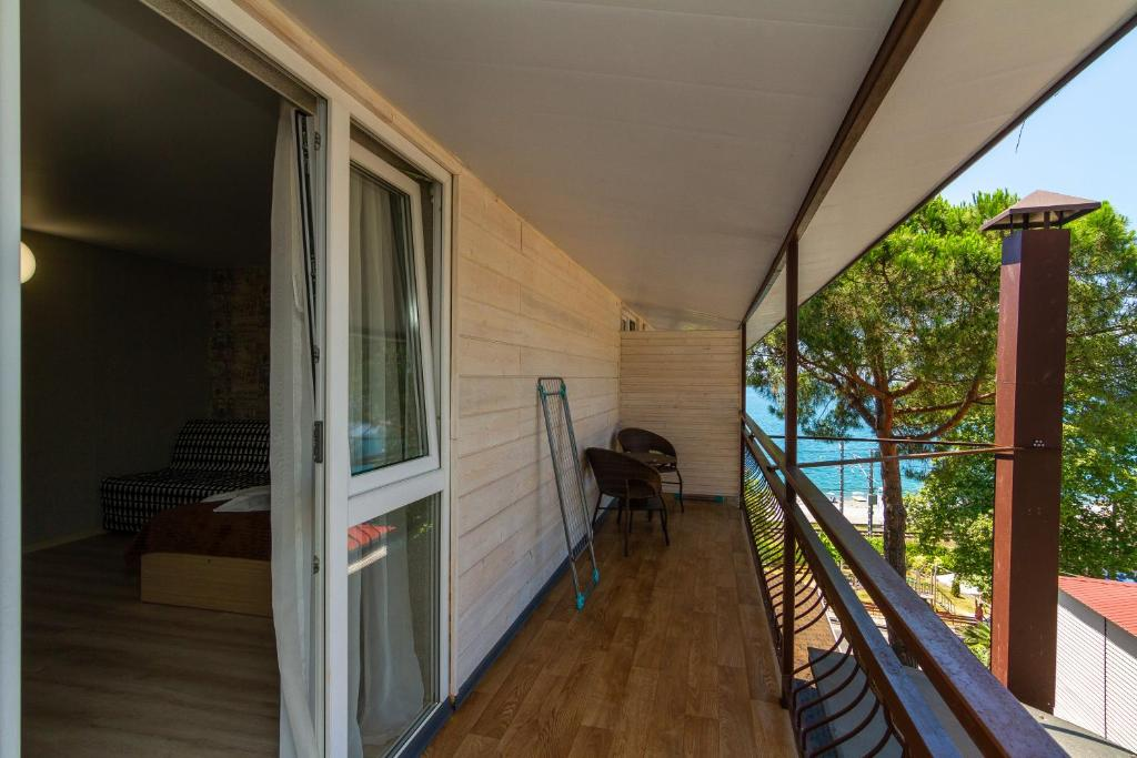 A balcony or terrace at Zhasmin Guest House