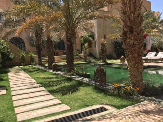 A garden outside Dar Tozeur
