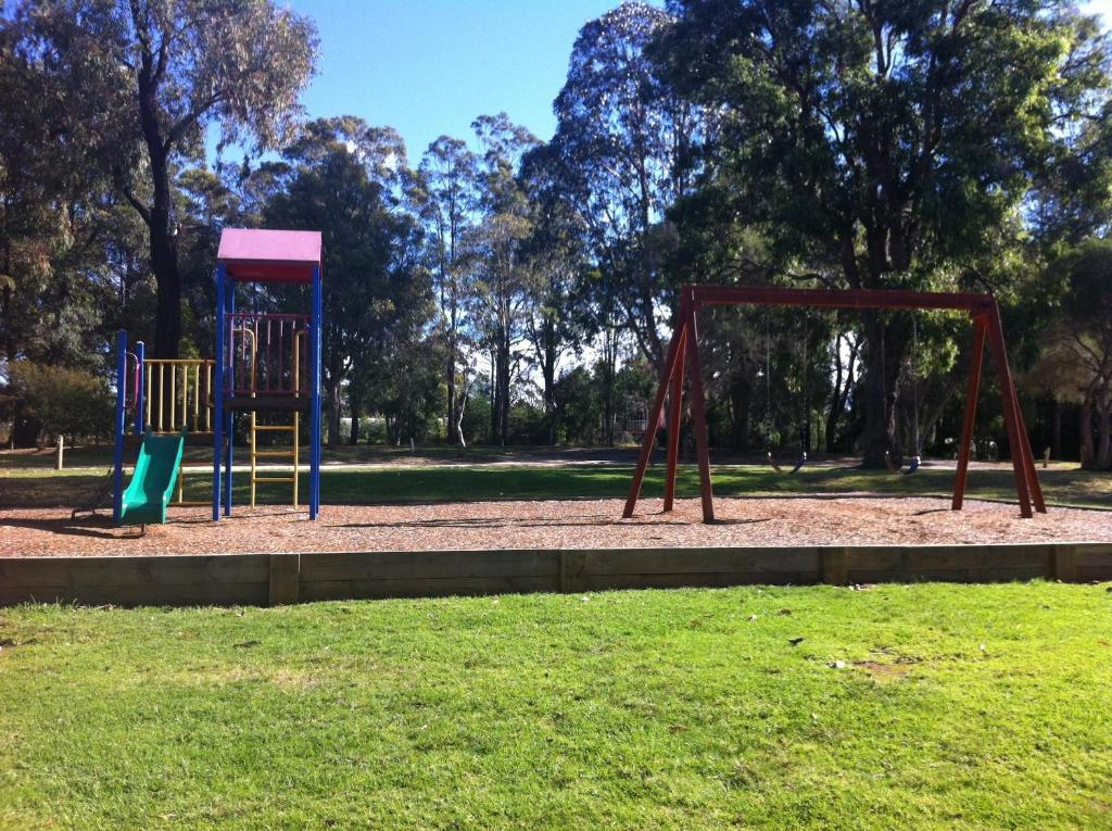 Children's play area at Mallacoota's Shady Gully Caravan Park